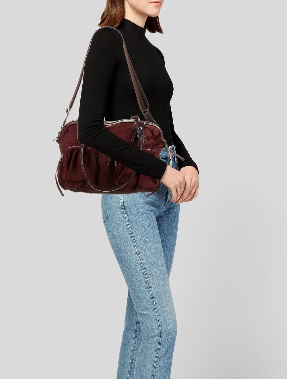 MZ Wallace Nylon Shoulder Bag Red - image 2
