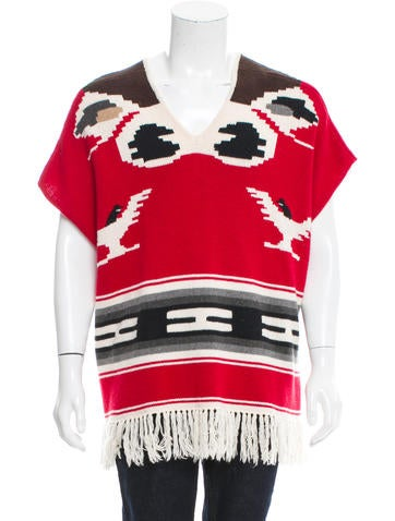 NSF Abstract Fringe-Trimmed Poncho None