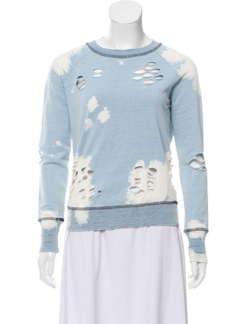 NSF Tie-Dye Print Crew Neck Sweater