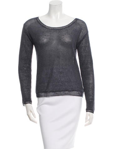 Magaschoni Long Sleeve Knit Top None