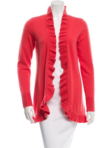 Magaschoni Ruffled Cashmere Cardigan None
