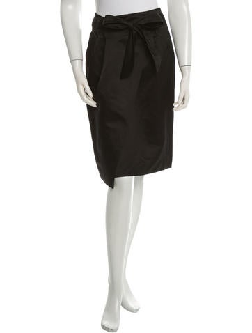 Magaschoni Asymmetrical Belted Skirt