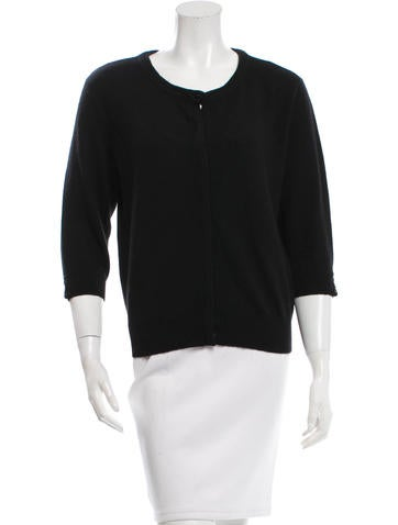 Magaschoni Cashmere Scoop Neck Cardigan None
