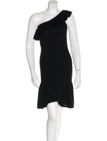 Magaschoni Rib Knit One-Shoulder Dress None