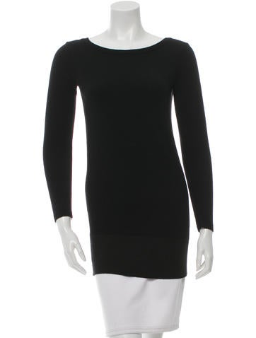 Magaschoni Long Sleeve Wool Top None