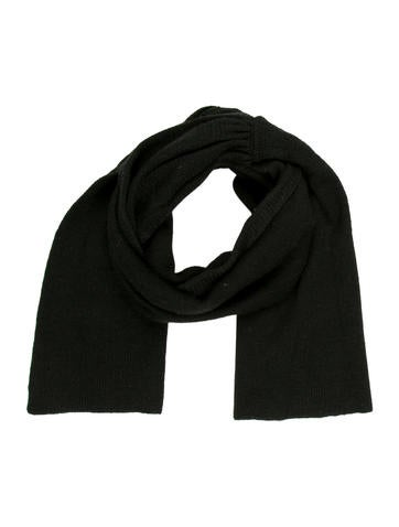 Magaschoni Black Knit Scarf None