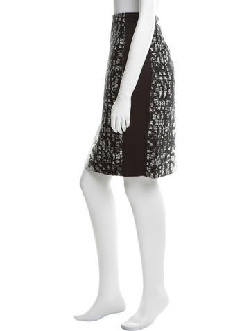 magaschoni knee length pattern skirt w tags clothing