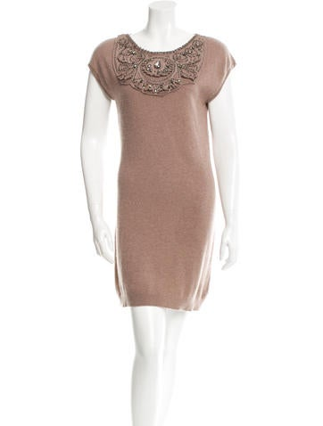 Magaschoni Embellished Cashmere Dress None