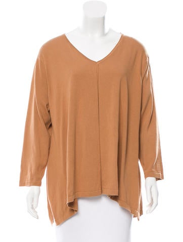 Magaschoni Oversize V-Neck Sweater w/ Tags None