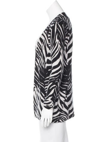 Magaschoni Cashmere Zebra Print Cardigan Clothing Wn123879 The Realreal