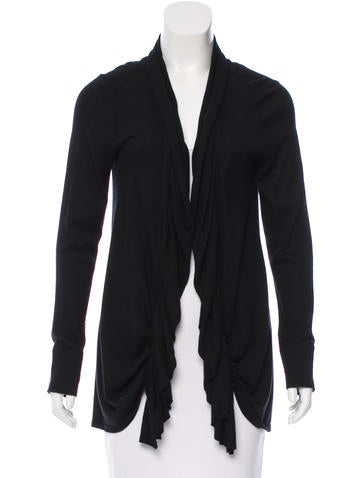 Magaschoni Silk Knit Cardigan None