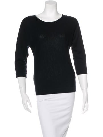 Magaschoni Wool-Blend Bateau Neck Sweater w/ Tags None