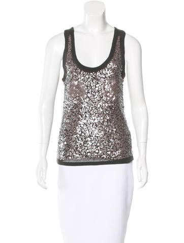 Magaschoni Sequin-Embellished Cashmere Top None