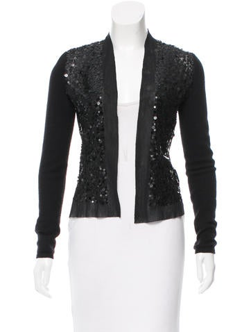 Magaschoni Sequined Cashmere Cardigan None