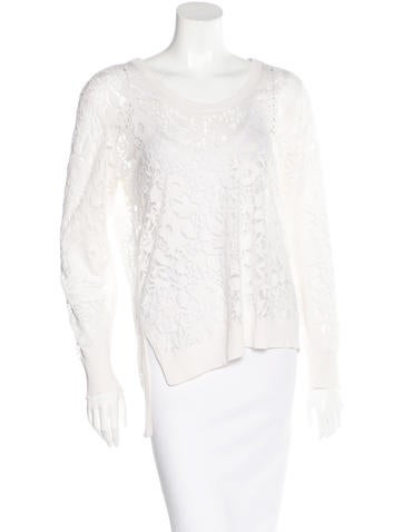 Magaschoni Lace Silk Sweater None