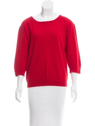 Magaschoni Cashmere Rib Knit Sweater None