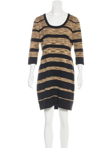 Magaschoni Striped Knit Dress None