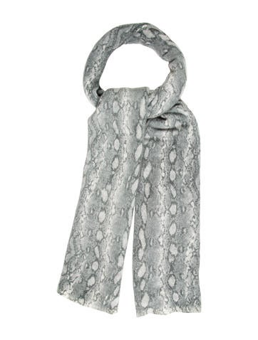 Magaschoni Cashmere Snakeskin Scarf None