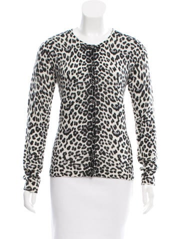 Magaschoni Leopard Print Cashmere Cardigan w/ Tags None