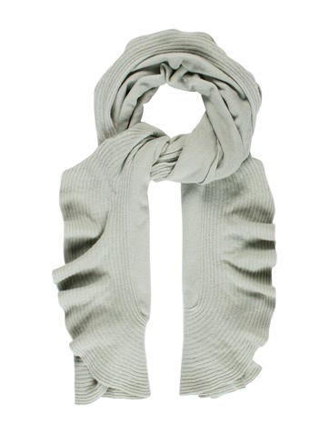 Magaschoni Ruffled Cashmere Scarf None