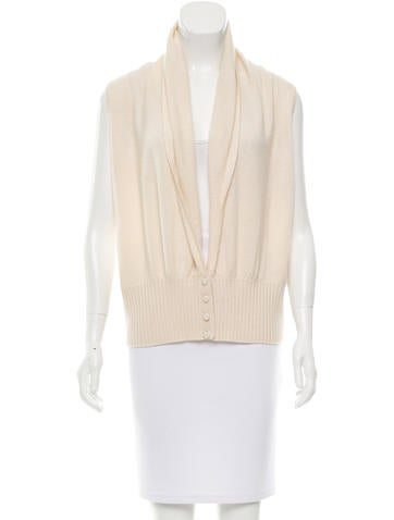 Magaschoni Cashmere Sleeveless Cardigan None