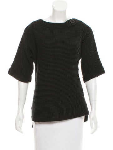 Magaschoni Slit-Accented Knit Sweater None