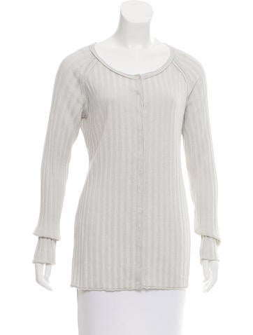 Magaschoni Metallic Rib Knit Top None