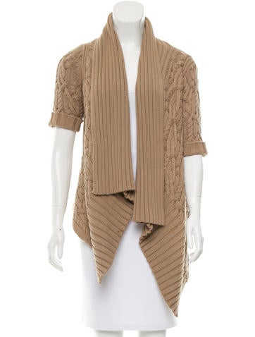 Magaschoni Asymmetrical Cable Knit Sweater None