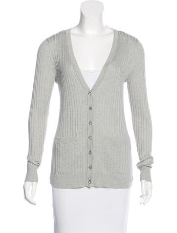 Magaschoni Silk & Cashmere Cardigan None