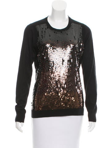Magaschoni Silk Sequin Sweater None