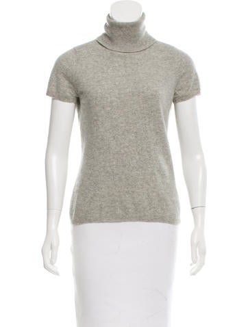 Magaschoni Short Sleeve Cashmere Top None