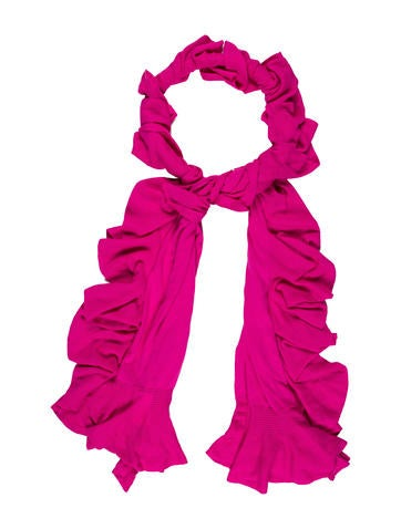 Magaschoni Ruffled Knit Scarf None