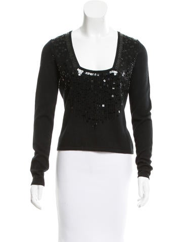 Magaschoni Embellished Knit Top None
