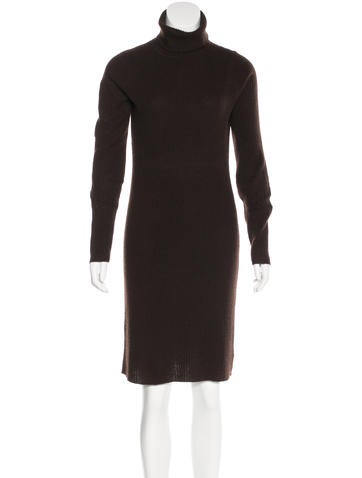 Magaschoni Cashmere Turtleneck Sweaterdress None