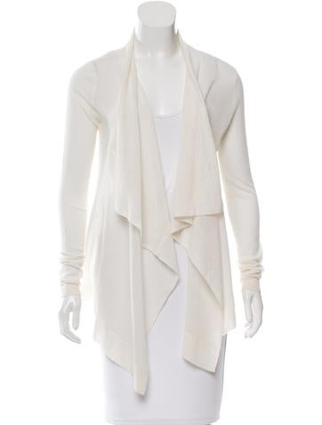 Magaschoni Cashmere Open-Front Cardigan