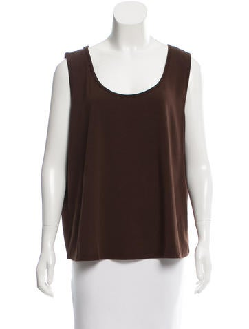 Magaschoni Sleeveless Scoop Neck Top w/ Tags