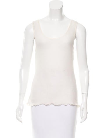 Magaschoni Cashmere Sleeveless Top None