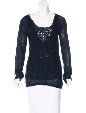 Magaschoni Cashmere Sequin-Embellished Sweater None