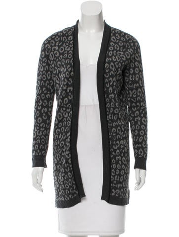 Magaschoni Leopard Patterned Silk & Wool-Blend Cardigan None