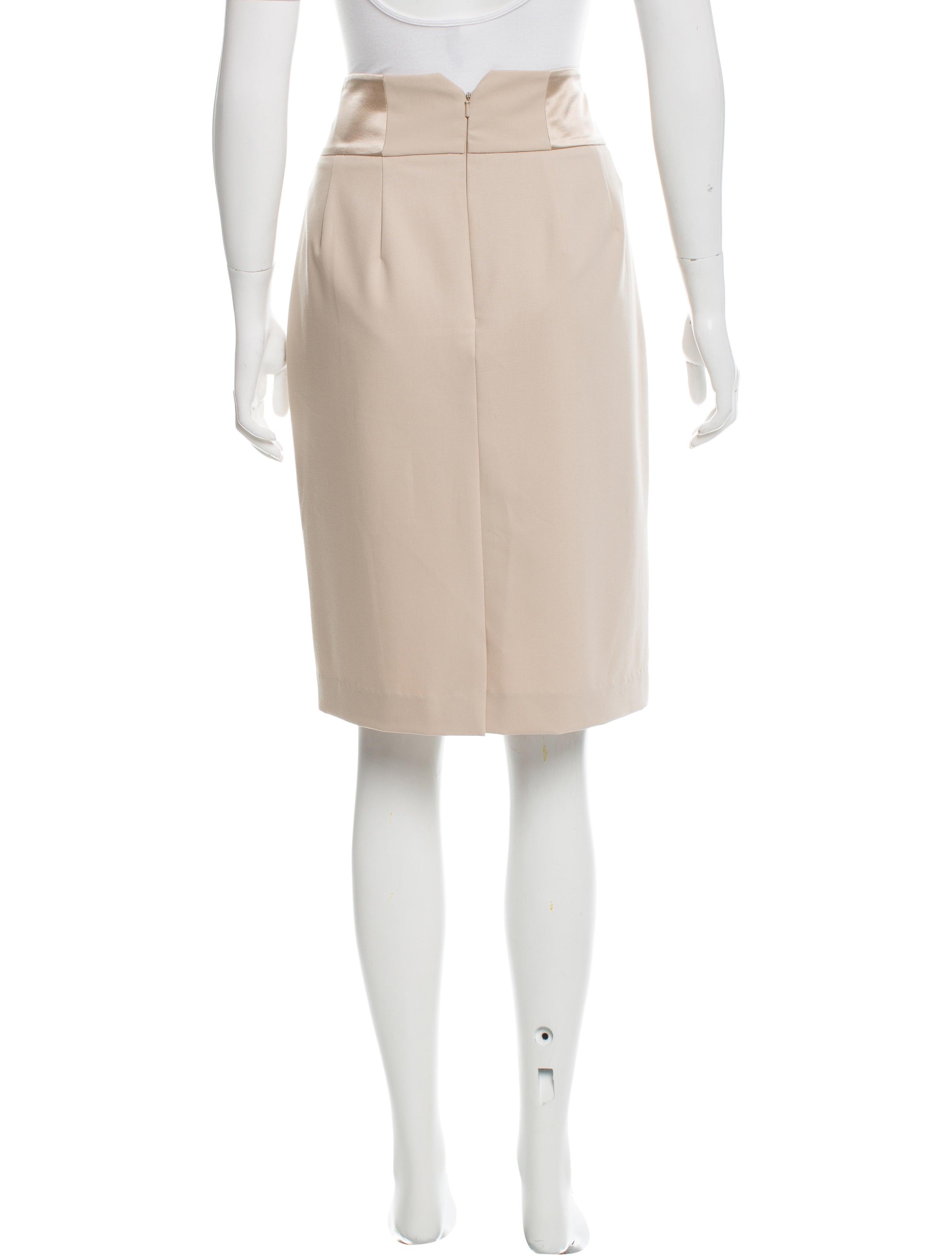 magaschoni knee length pencil skirt clothing wn124626