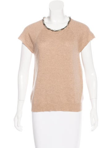 Magaschoni Embellished Cashmere Top None