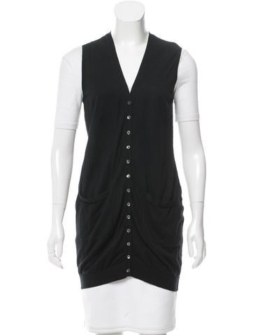 Magaschoni Sleeveless Button-Up Cardigan None