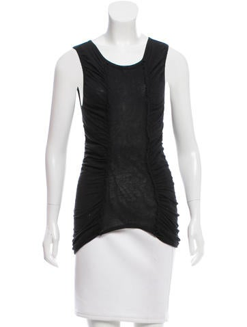 Magaschoni Ruched Sleeveless Top None