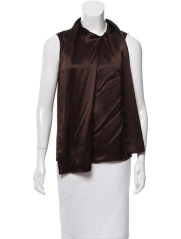 Magaschoni Sleeveless Silk Top None