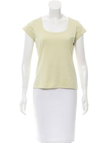 Magaschoni Silk Short Sleeve Top None