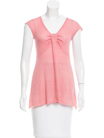 Magaschoni Cashmere-Blend Patterned Top None