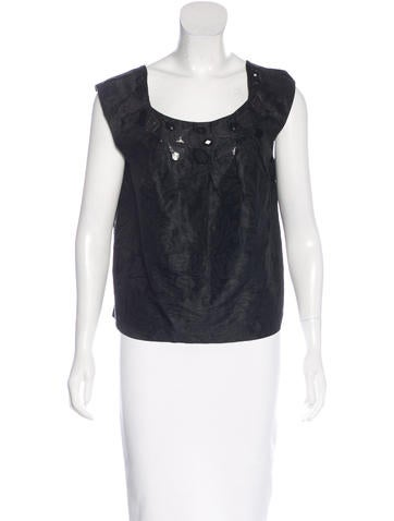 Magaschoni Sleeveless Embellished Top None