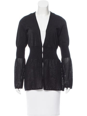 Magaschoni Metallic-Accented Knit Cardigan None