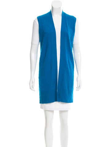 Magaschoni Cashmere Open Front Vest w/ Tags None
