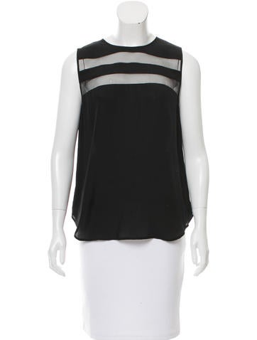 Magaschoni Sleeveless Silk Top None